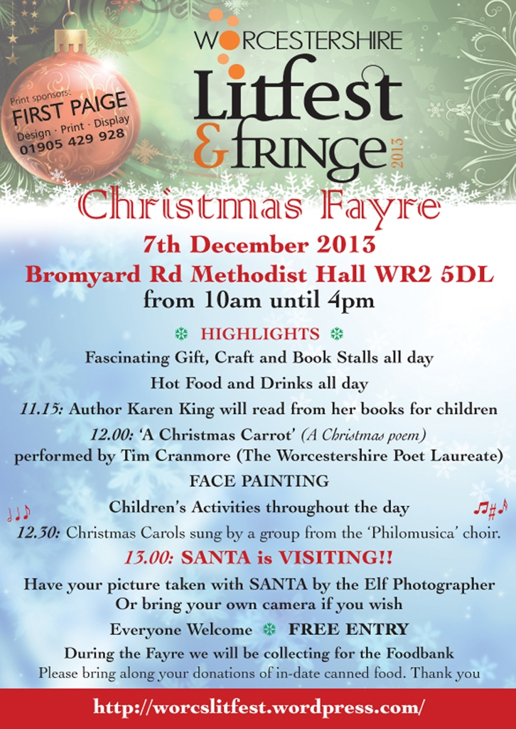LitFest Xmas Fayre poster