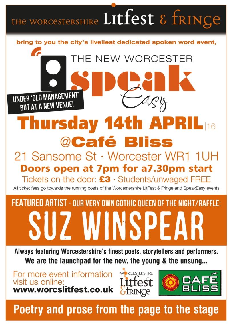 SpeakEasy poster 14 April 2016
