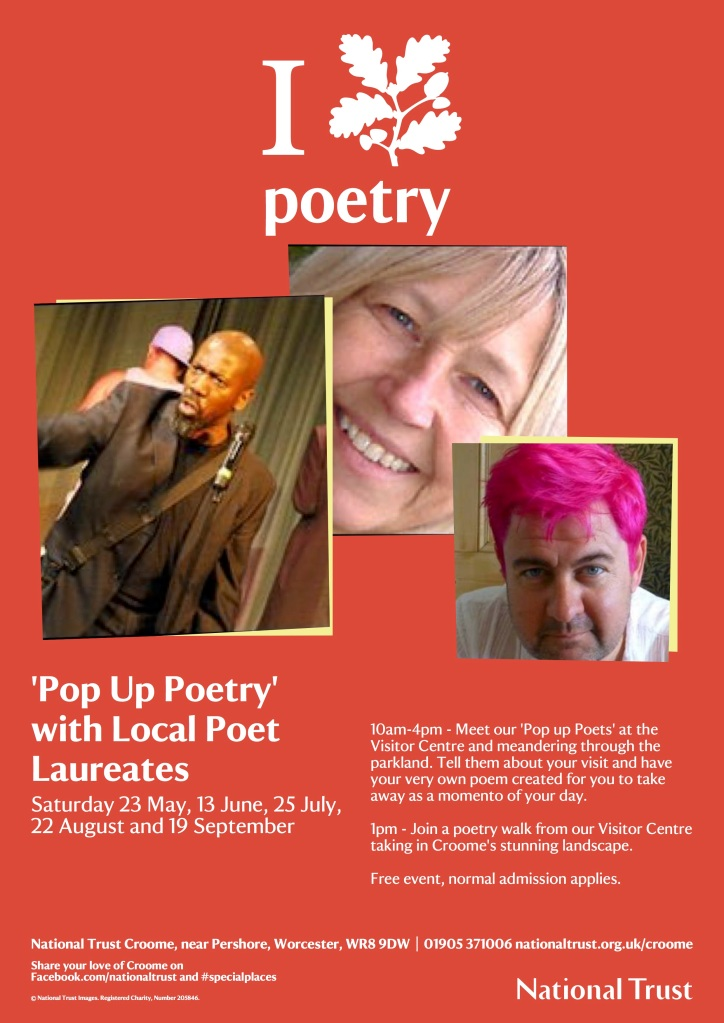 Pop Up Poetry At Croome - Poster