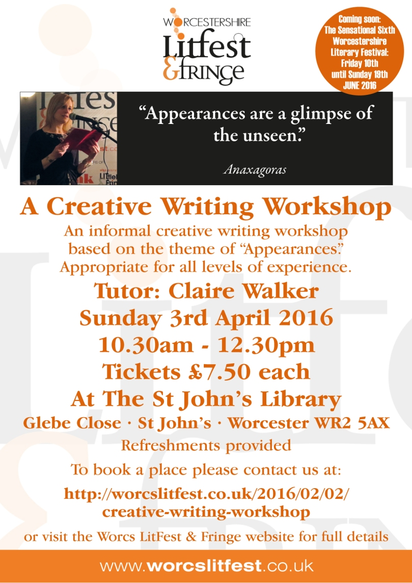 LitFest Appearances workshop poster