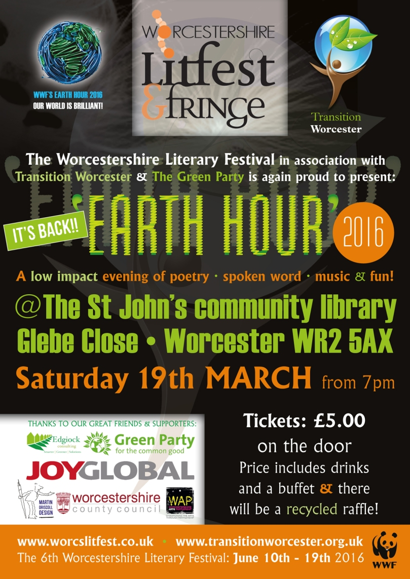 LitFest Earth Hour poster 2016