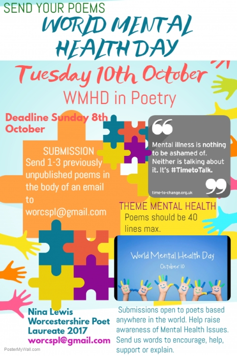 World Mental Health Day We Want Your Poems Worcestershire